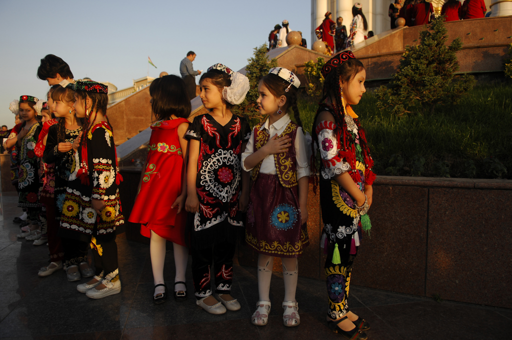 children at a Ramadan Festival in Tajikistan
